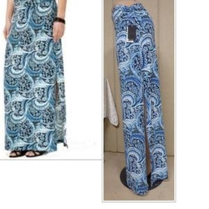 Stoosh Side Slits Printed Maxi Skirt, Large